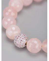 Nialaya - Pink Beaded Bracelet - Lyst
