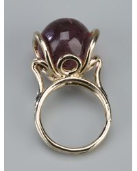Nina Ricci - Purple Metallic Circular Ring - Lyst