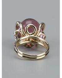 Nina Ricci | Purple Metallic Circular Ring | Lyst
