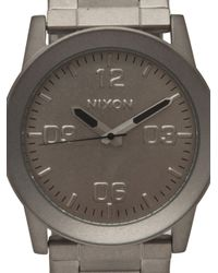 Nixon Gray Privatess Raw Steel Watch