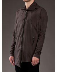 Odeur - Gray Asymmetric Funnel Neck Jacket for Men - Lyst