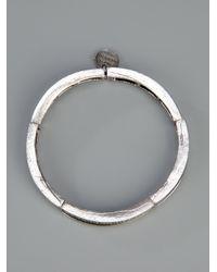 Philippe Audibert - Metallic Herringbone Bangle - Lyst