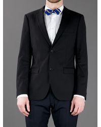 Polo Ralph Lauren Blue Striped Bow Tie for men