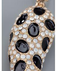 Roberto Cavalli Metallic Crystal Embellished Pendant Necklace