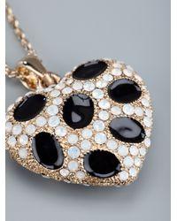 Roberto Cavalli Metallic Heart Pendant Necklace