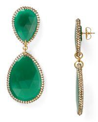 Roni Blanshay | Large Green Onyx Teardrop Earrings | Lyst