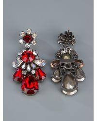 Shourouk - Red Crystal Earrings - Lyst