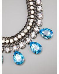Silvia Gnecchi - Metallic Crystal Pendant Necklace - Lyst