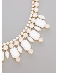 Silvia Gnecchi | White Diamante Necklace | Lyst