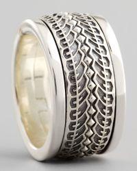 Stephen Webster - Metallic Silver Tire Spinner Ring for Men - Lyst