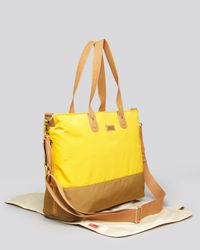 Storksak Yellow Tote - Color Block Diaper Bag
