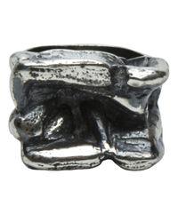Tamara Akcay - Metallic Large Crater Ring for Men - Lyst