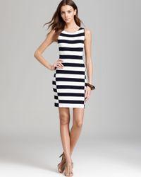 Theory Blue Sweater Dress Lasina Stripe