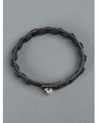 Tobias Wistisen - Metallic Silver Woven Ribbon Bracelet for Men - Lyst