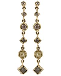 Todd Reed - Metallic Long Drop Diamond Dangle Earrings - Lyst