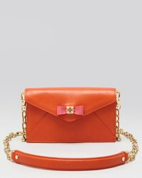 Tory Burch Orange Crossbody Bow with Patent Bow