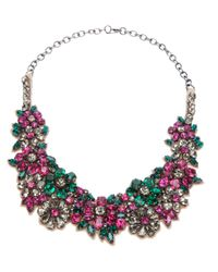Valentino | Purple Floral Crystal Necklace | Lyst