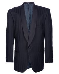 Valentino | Blue Silk Tuxedo Jacket for Men | Lyst