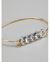 Vibe Harsløf - Metallic Vibe Harsløf Bangle Gold Chain - Lyst
