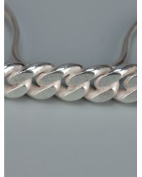 Vibe Harsløf | Metallic Knuckleduster Curb Chain Ring | Lyst