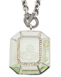 Vivienne Westwood - Metallic Emerald Frames Pendant - Lyst