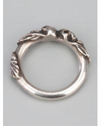Werkstatt:münchen - Metallic Skull Ring for Men - Lyst