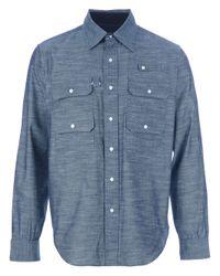 Woolrich Blue Woolrich Mens Miller Field Shirt for men