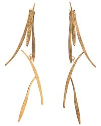 Wouters & Hendrix | Metallic Long Bamboo Earrings | Lyst