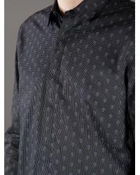 Alexander McQueen White Polka Dot Skull Print Shirt for men