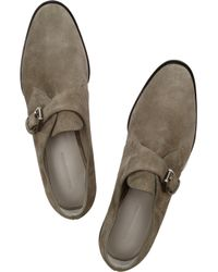 Alexander Wang Gray Ruby Suede Monk Shoes
