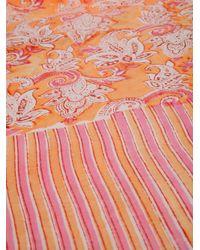 Antik Batik Orange Fiya Pareo Scarf