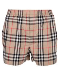 Burberry Brown Checked Short for men