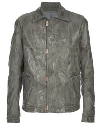 Carol Christian Poell | Gray Creased Jacket for Men | Lyst
