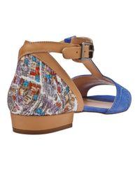 Carven Blue Tstrap Sandal