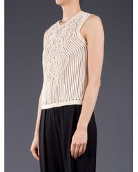 Carven White Rope Tank