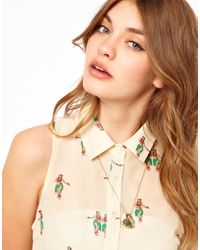 Cath Kidston | Metallic Boating Cluster Necklace | Lyst