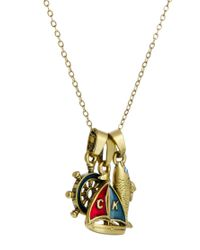 Cath Kidston - Metallic Boating Cluster Necklace - Lyst
