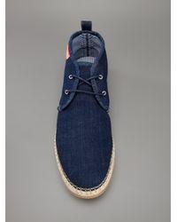 DSquared² Blue Denim Desert Boot for men