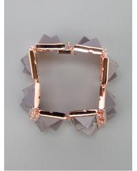 Eddie Borgo - Gray Gemstone Plate Bracelet - Lyst