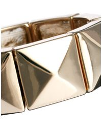 French Connection - Metallic Metal Bar Linked Bangle - Lyst