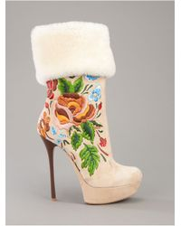 Gianmarco Lorenzi - Natural Embroidered Boot - Lyst