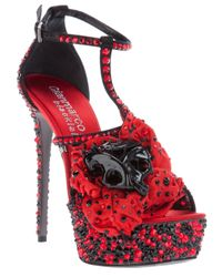 Gianmarco Lorenzi | Red High Heel Sandal | Lyst