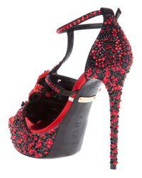 Gianmarco Lorenzi High Heel Sandal In Red Lyst