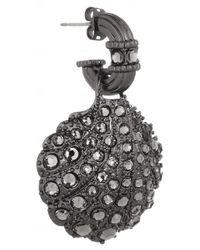 Giles & Brother Metallic Hematiteplated Crystal Shell Earrings