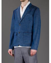 Gucci Blue Denim Blazer for men