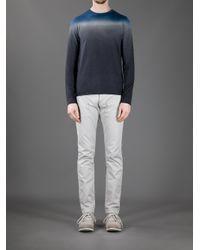 Iceberg Blue Gradient Sweater for men