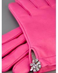 Imoni Pink Leather Glove