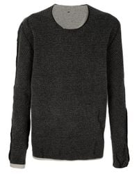 Label Under Construction | Black Wool Sweater for Men | Lyst