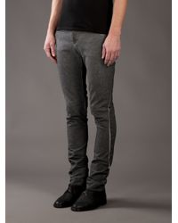 Label Under Construction - Gray Over Dyed J Pant for Men - Lyst