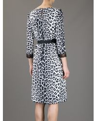 Marc Jacobs White Leopard Print Dress